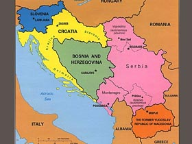 Harta Iugoslavia Romania Military